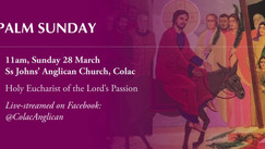 Palm Sunday at Ss Johns' Colac