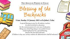 2021 Blessing of the Backpacks