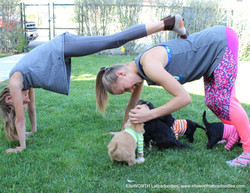 yoga and shirts and girls= fun!