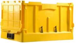 Foldable plastic Bin