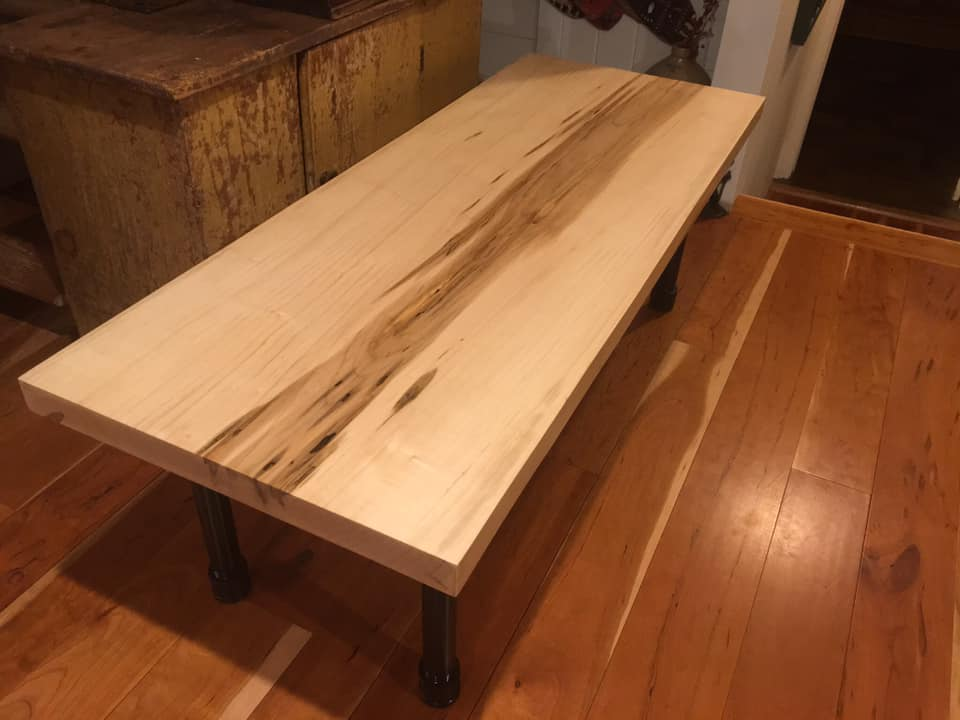 hard maple top coffee table