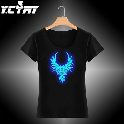 Camiseta Casual YCTRY Neon