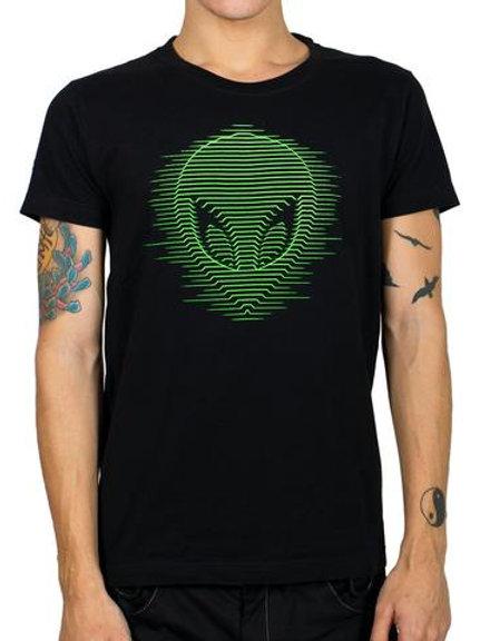 Camiseta Cyberdog com estampa Alien com salpicos reativos U.V.