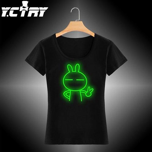 Camiseta Casual YCTRY Neon