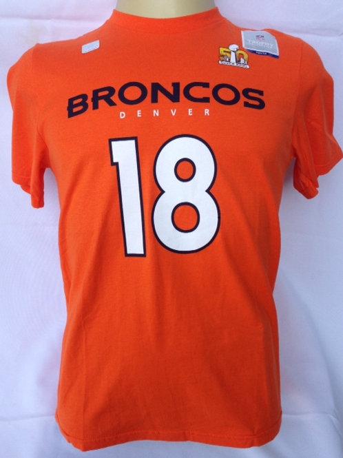 Camiseta algodão NFL Broncos P.Manning