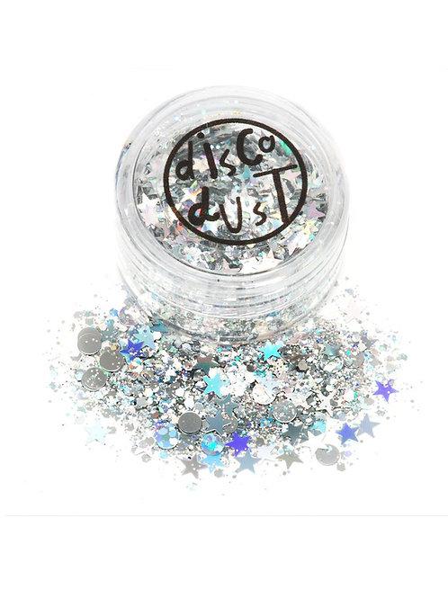 Glitter Mistura Espaço de Prata (3 Gramas)