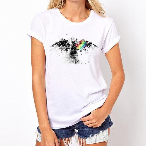 Camiseta algodão tema Rock Pink Floyd
