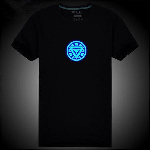 Camiseta Casual YCTRY Neon IronMan