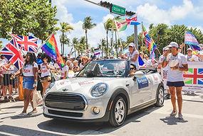 Participants at Miami Pride 2019