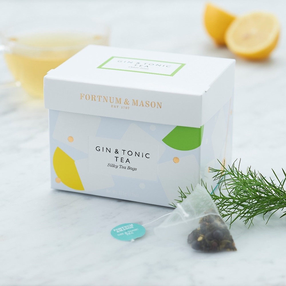 A box of gin and tonic tea bags