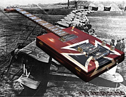 Сигарбокс гитара Red baron