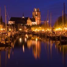 Skyline Dordrecht, Nieuwe Haven with Grote Kerk, Dordrecht, The Netherlands, 2017