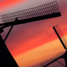 Windmills in Morning Light, Kinderdijk, Zuid-Holland, The Netherlands