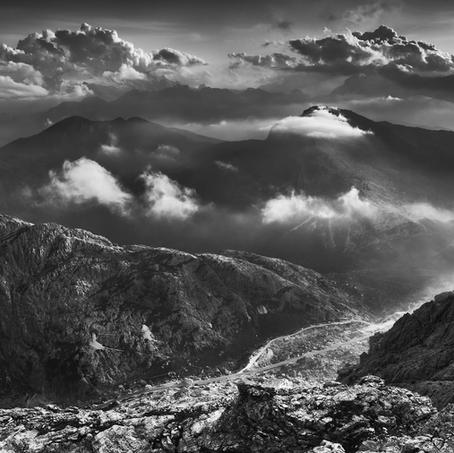 Falzaregos Mist, Lagazuoi, Dolomites, Italy, 2012