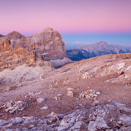 Last Colors of the Day, Tofana di Rozes, Dolomites, Italy