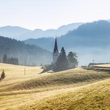 Church in the Mist, Steinberg am Rofan, Tyrol, Austria