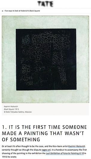 Eerste minimalistische kunstwerk, Black