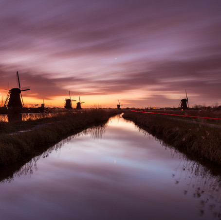 Sunrise, Kinderdijk, Zuid-Holland, The Netherlands