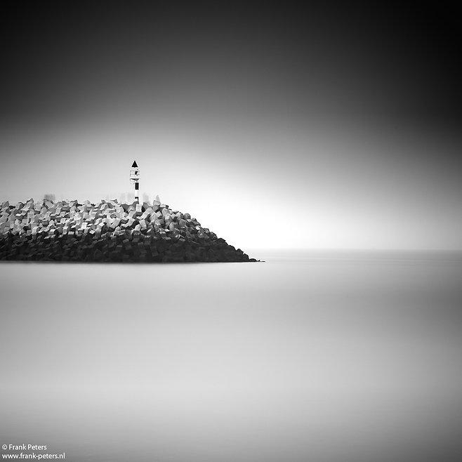 Zwart wit fotografie, jachthaven Cadzand