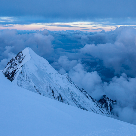 Aiguille du Bionassay, Dôme du Goûter, Mont Blanc, France, 2014