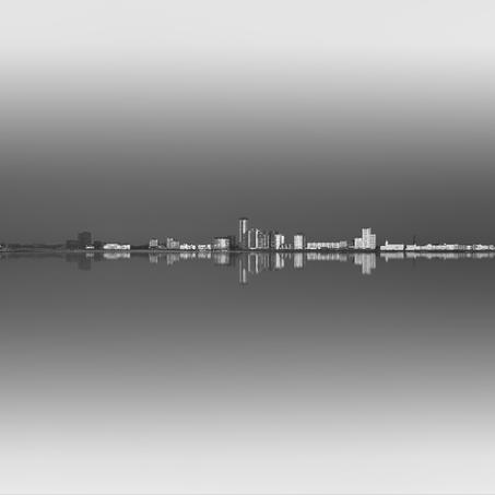 Skyline Vlissingen, Breskens, Zeeland, Netherlands, 2018