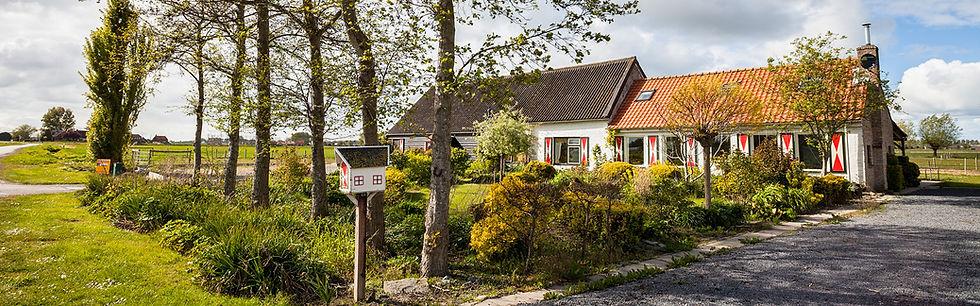 Bed and breakfast in Zeeland, B&B 't Zoete Peerd voortuin en weilanden