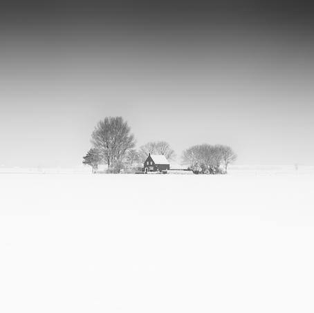 House in the Snow, Zeeuws-Vlaanderen, Netherlands