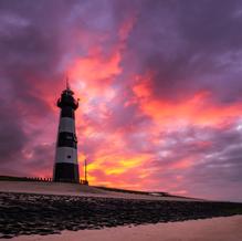 Lighthouse on Fire, Breskens, Zeeuws-Vlaanderen, The Netherlands