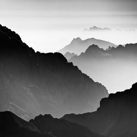 View over the Dolomites, Marmolada, Italy, 2015
