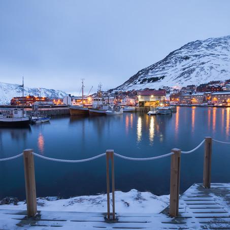 Icy Marina, Honningsvag, Finnmark, Norway