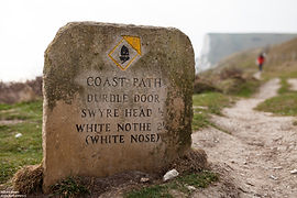 Sign Coast Path, Durdle Door, Jurassic C
