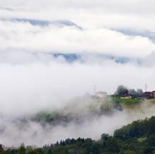 Valley in the Mist, Parco Nazionale delle Dolomiti Bellunesi, Dolomites, Italy