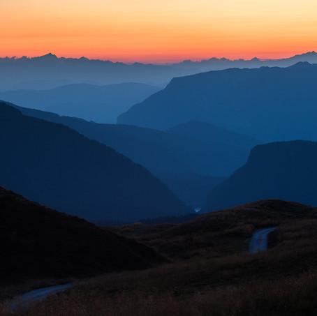 Sunset, Parco Naturale di Paneveggio, Dolomites, Italy