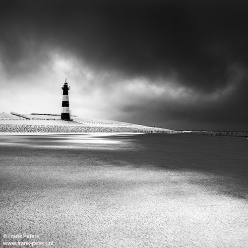 'Lighthouse after Snow Storm' published on 1X.com
