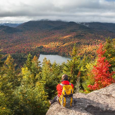 Selfie, Mount Joe and Heart Lake, Adirondacks, USA