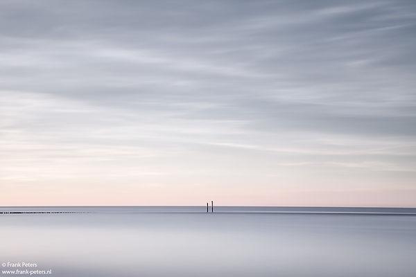 Lange sluitertijd, Paalhoofden, Groede aan Zee