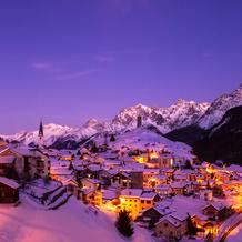 Skyline Ardez, Scuol, Unterengadin, Switzerland