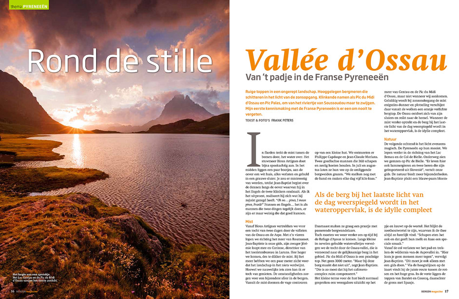 Pyrenees article published in Bergen Magazine
