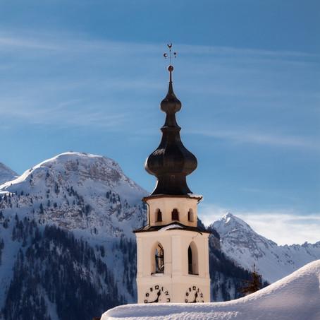 Tower of Ftan, Unterengadin, Switzerland