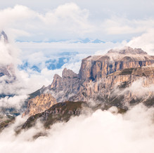 In the Mist, Sella and Sasso Lungo, Dolomites, Italy