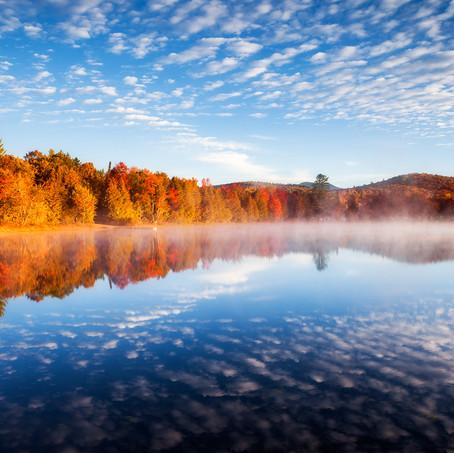 Autumn Colors, Lake Harris, Adirondacks, USA