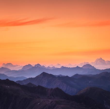 Dolomites at Sunrise, Antholz Valley, Tyrol, Italy