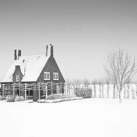 House in the Snow, Zeeuws-Vlaanderen, Netherlands, 2019