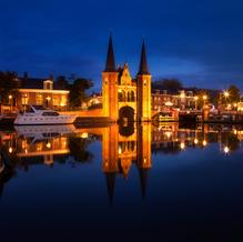 Skyline Sneek with Waterpoort, Friesland, The Netherlands, 2016