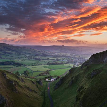 Sunrise, Winnats Pass, Peak District, England