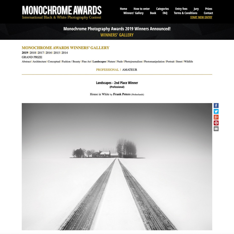 Awarded in International Monochrome Awards
