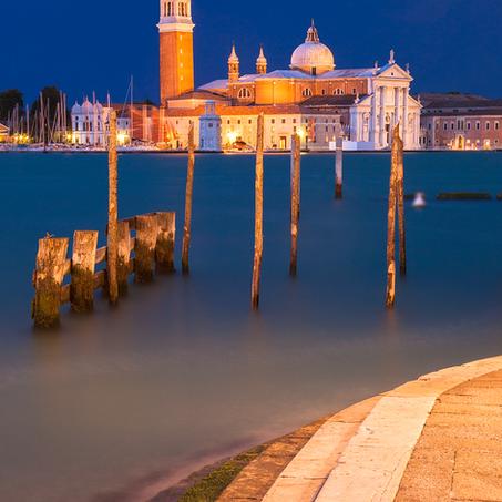 Venice Twilight, Basilica di San Giorgio Maggiore, Italy