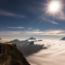Moonlight, Lagazuoi, Dolomites, Italy
