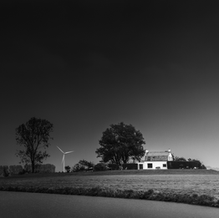House on Mound in pouring Rain, Zeeuws-Vlaanderen, Netherlands, 2020