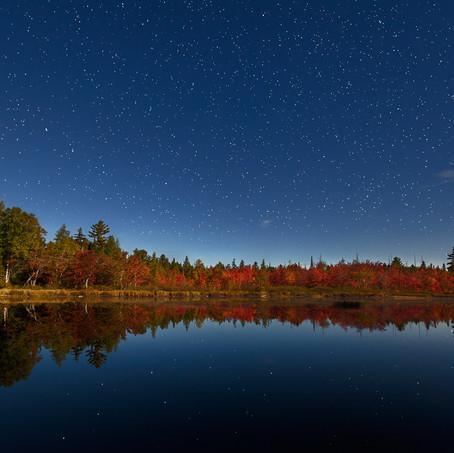 Starry Sky, Round Lake, Adirondacks, USA